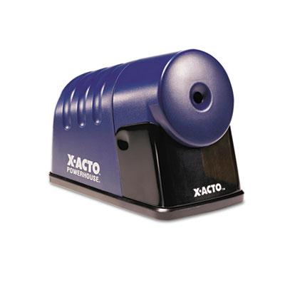"X-ACTO Powerhouse Office Electric Pencil Sharpener, AC-Powered, 3"" x 6.25"" x 4.5"", Translucent Blue (1792LMR)"