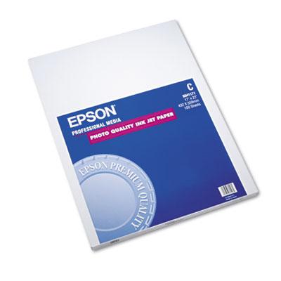 Epson Matte Presentation Paper, 4.9 mil, 17 x 22, Matte Bright White, 100/Pack (S041171)