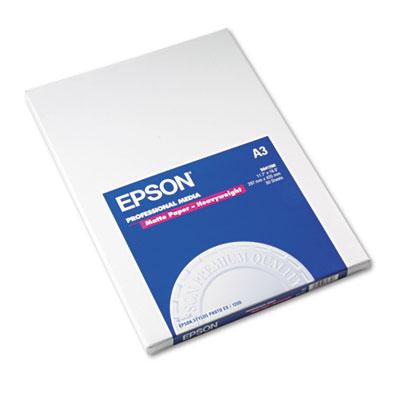 Epson Premium Matte Presentation Paper, 9 mil, 11.75 x 16.5, Bright White, 50/Pack (S041260)