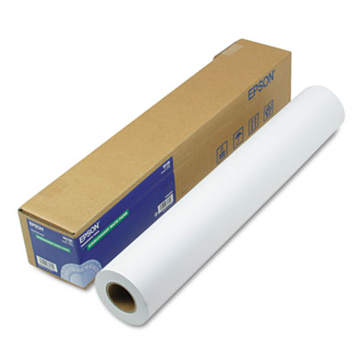 """Epson Double Weight Matte Paper, 8 mil, 24"""" x 82 ft, Matte White (S041385)"""