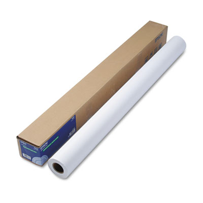 """Epson Double Weight Matte Paper, 8 mil, 44"""" x 82 ft, Matte White (S041387)"""