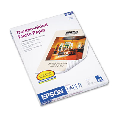 Epson Premium Matte Presentation Paper, 9 mil, 8.5 x 11, Matte Bright White, 50/Pack (S041568)