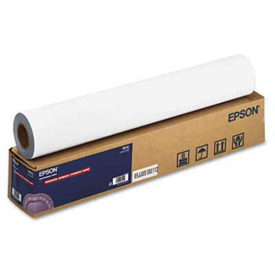"""Epson Enhanced Adhesive Synthetic Paper, 2"""" Core, 24"""" x 100 ft, Matte White (S041617)"""