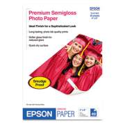 Epson Premium Semigloss Photo Paper, 7 mil, 4 x 6, Semi-Gloss White, 40/Pack (S041982)