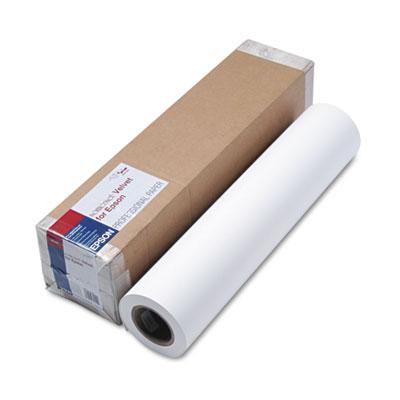 """Epson Somerset Velvet Paper Roll, 24"""" x 50 ft, White (SP91203)"""