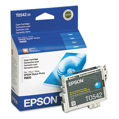 Epson T054220 (54) Ink, 400 Page-Yield, Cyan