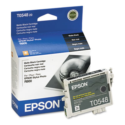 Epson T054820 (54) Ink, 400 Page-Yield, Matte Black