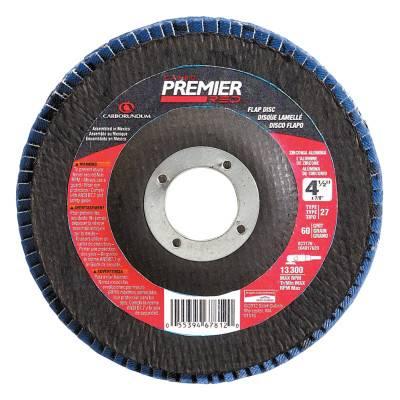 Carborundum 5539563745 Premier Red Zirconia Alumina Type 27 Flap Discs- 5 Units