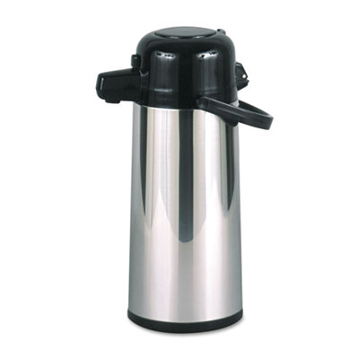 Hormel Commercial Grade 2.2L Airpot, w/Push-Button Pump, Stainless Steel/Black (PAE-22B)