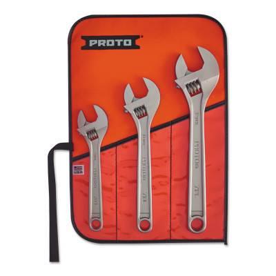 Stanley Proto Clik-Stop 3 Piece Adjustable Wrench Sets (J790)