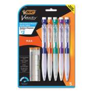 BIC Velocity Max Pencil, 0.7 mm, HB (#2), Black Lead, Assorted Barrel Colors, 5/Pack (MPMX7P51)