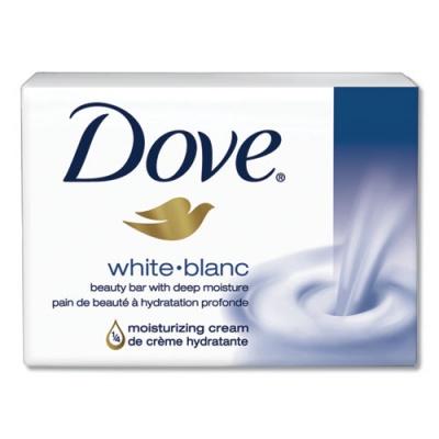 Dove Moisturizing Bar Soap, Pleasant Scent, 3.15 oz, 48/Carton (CB614243)