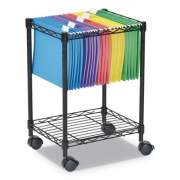 Alera Compact Rolling File Cart, 15.25w x 12.38d x 21h, Black (ALEFW601416BL)