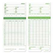 Time Clock Cards for uPunch HN1000/HN3000/HN3600, Two Sides, 7.5 x 3.5, 100/Pack (HNTCG1100)