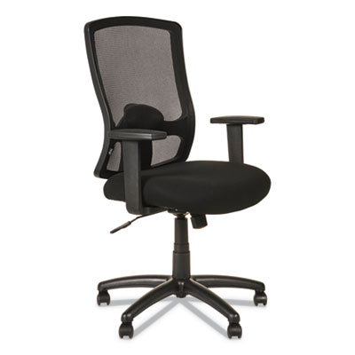 Alera Etros Series High-Back Swivel/Tilt Chair, Supports up to 275 lbs., Black Seat/Black Back, Black Base (ALEET4117B)