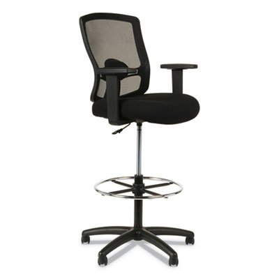 Alera Etros Series Mesh Stool, 36.13 Seat Height, Supports up to 275 lbs., Black Seat/Black Back, Black Base (ALEET4614)