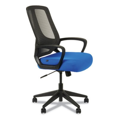 Alera MB Series Mesh Mid-Back Office Chair, Supports up to 275 lbs., Blue Seat/Black Back, Black Base (ALEMB4728)