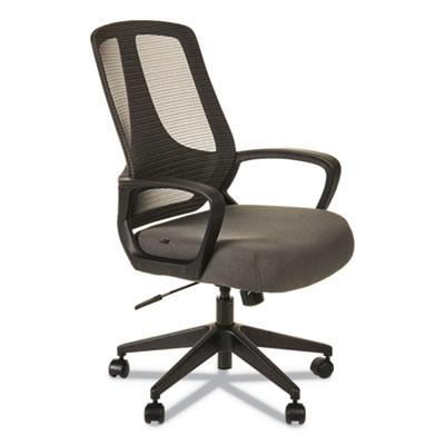 Alera MB Series Mesh Mid-Back Office Chair, Supports up to 275 lbs., Gray Seat/Black Back, Black Base (ALEMB4748)