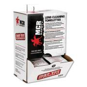 MCR Safety Lens Cleaning Towelettes, 100/Box, 10 Box/Carton (LCTCT)