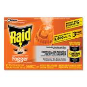 Raid Concentrated Deep Reach Fogger, 1.5 oz Aerosol Can, 3/Pack, 12 Packs/Carton (305690)