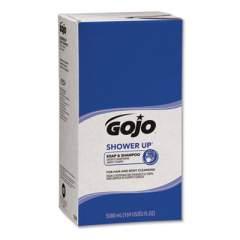 GOJO SHOWER UP SOAP AND SHAMPOO, PLEASANT SCENT, ROSE COLOR, 5,000 ML REFILL, 2/CARTON (7530)