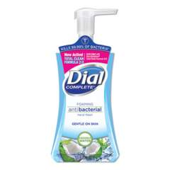 Dial Antibacterial Foaming Hand Wash, Coconut Waters, 7.5 oz Pump Bottle, 8/Carton (09316CT)