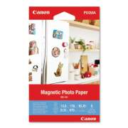 Canon Glossy Magnetic Photo Paper, 13 mil, 4 x 6, White, 5 Sheets/Pack (3634C002)