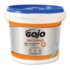 GOJO FAST TOWELS Hand Cleaning Towels, 9 x 10, Blue, 225/Bucket, 2 Buckets/Carton (629902CT)