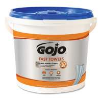 GOJO FAST TOWELS Hand Cleaning Towels, 7.75 x 11, 130/Bucket, 4 Buckets/Carton (6298)