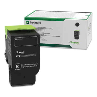 Lexmark 70C0XKG (700XKG) Return Program Extra High-Yield Toner, Black, TAA Compliant