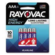 Rayovac High Energy Premium Alkaline AAA Batteries, 4/Pack (8244K)