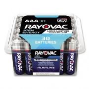 Rayovac High Energy Premium Alkaline AAA Batteries, 30/Pack (82430PPK)