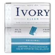 Ivory Bar Soap, Original Scent, 4 oz, 4/Pack, 18 Packs/Carton (82757)