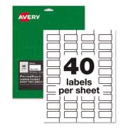 Avery PermaTrack Tamper-Evident Asset Tag Labels, Laser Printers, 0.75 x 1.5, White, 40/Sheet, 8 Sheets/Pack (60528)