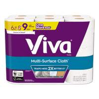 Viva Multi-Surface Cloth Choose-A-Sheet Paper Towels 1-Ply, 11 x 5.9, White, 83 Sheets/Roll, 6 Rolls/Pack, 4 Packs/Carton (49413)