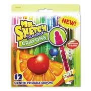 Mr. Sketch Scented Crayons, Assorted, 12/Pack (1951200)