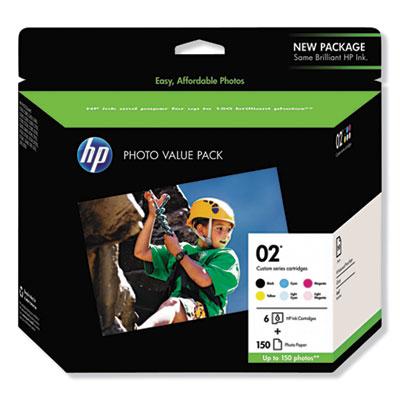 HP 02 Series Photo Value Pack-150 sht/4 x 6 in (Q7964AN)