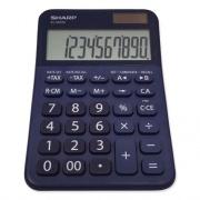 Sharp ELM335BBL Desktop Calculator, 10-Digit LCD, Blue