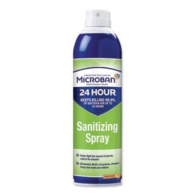 Microban 24-Hour Disinfectant Sanitizing Spray, Citrus, 15 oz (30130EA)