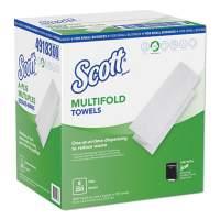 Scott Multi-Fold Paper Towels, 9.2 x 9.4, White, 250/Pack, 8 Packs/Carton (49183)