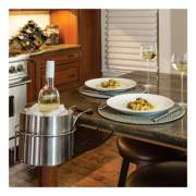 C-Line Wine By Your Side, Steel Frame/Red Wine Adapter/Ice Bucket, 161.06 cu in, Stainless Steel (20014)