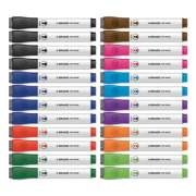 U Brands Chisel Tip Low-Odor Dry-Erase Markers with Erasers, Assorted Colors, 24/Pack (2929U0012)