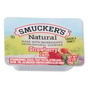 Smucker's Smuckers 1/2 Ounce Natural Jam, 0.5 oz Container, Strawberry, 200/Carton (8201)