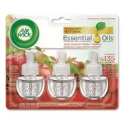 Air Wick Scented Oil Refill, Warming - Apple Cinnamon Medley, 0.67 oz, 3/Pack, 6 Packs/Carton (83550)