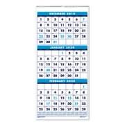 AbilityOne 7510016828098 SKILCRAFT 14-Month Wirebound Wall Calendar, 12.25 x 26, White/Black/Blue, 2022-2023 (6828097)