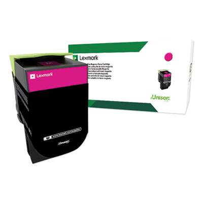Lexmark 80C0XMG Return Program Extra High-Yield Toner, 4000 Yield, Magenta, TAA Compliant