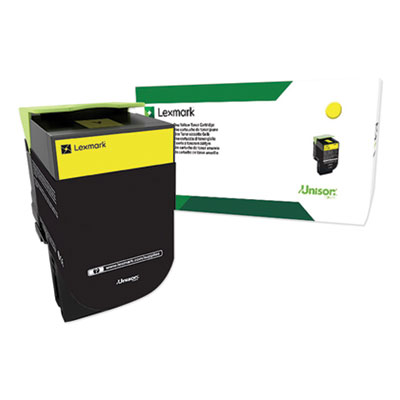 Lexmark 80C0XYG Return Program Extra High-Yield Toner, 4000 Yield, Yellow, TAA Compliant