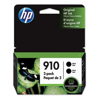 HP 910 2-pack Black Original Ink Cartridges (3JB40AN)