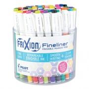 Pilot FriXion Erasable Stick Marker Pen, 0.6 mm, Assorted Ink/Barrel, 72/Tub (12317)