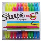 Sharpie Pocket Style Highlighters, Chisel Tip, Assorted Colors, 24/Pack (1761791)
